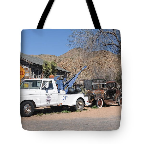Route 66 Old Shell Service Station Tote Bag