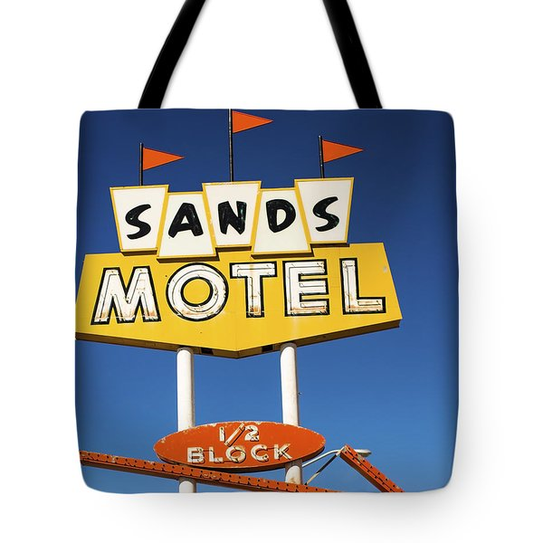 Route 66 Sands Motel Vintage Sign Tote Bag
