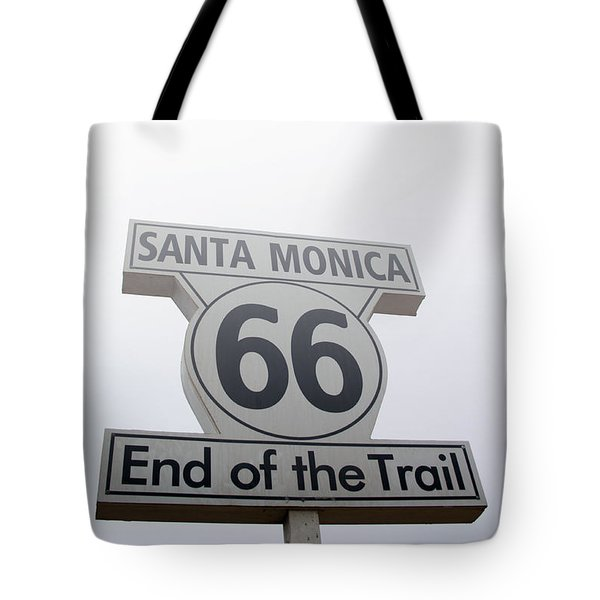 Route 66 Santa Monica- By Linda Woods Tote Bag by Linda Woods