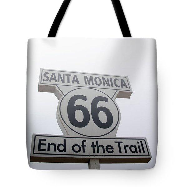 Route 66 Santa Monica- By Linda Woods Tote Bag