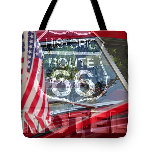Tote Bag featuring the photograph Route 66 The American Highway by David Lee Thompson