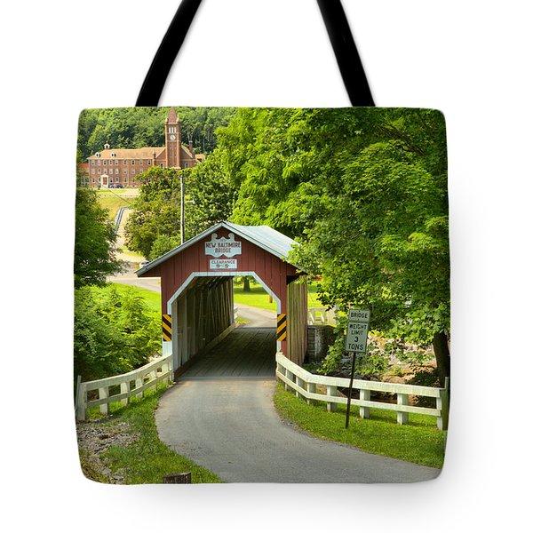 Route 812 Covered Bridge Tote Bag