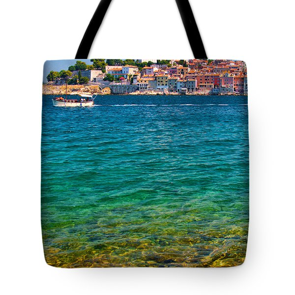 Rovinj Croatia Tote Bag by Graham Hawcroft pixsellpix