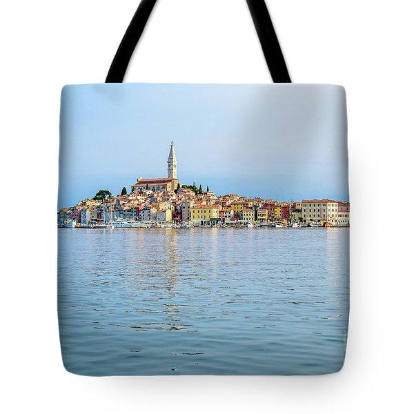Rovinj In The Early Morning Fog, Istria, Croatia Tote Bag