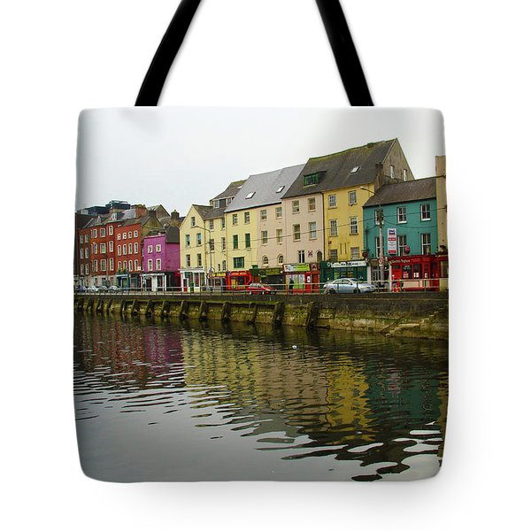 Row Homes On The River Lee, Cork, Ireland Tote Bag