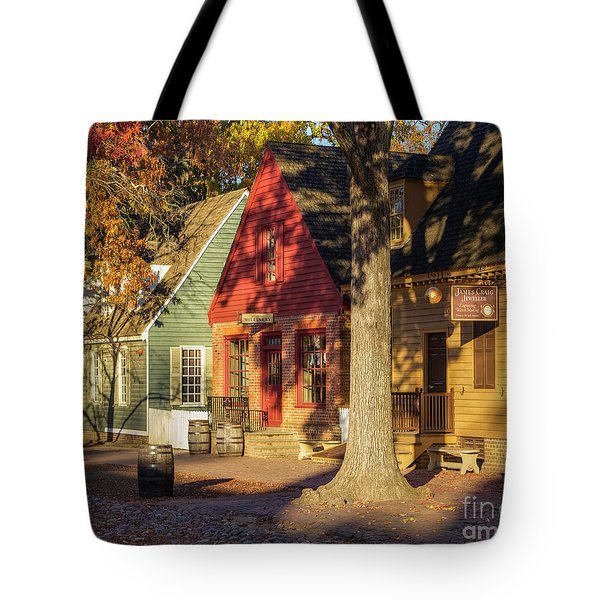Row Houses Duke Of Gloucester Colonial Williamsburg Tote Bag