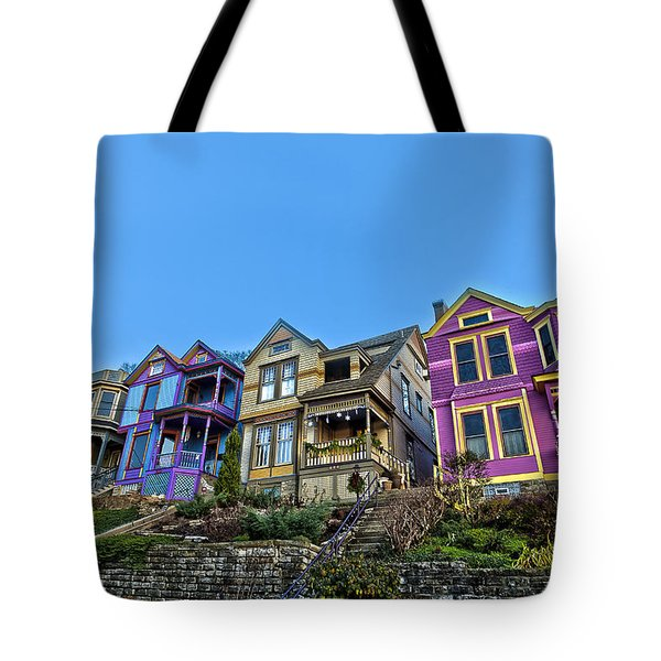 Row Houses Tote Bag by Keith Allen