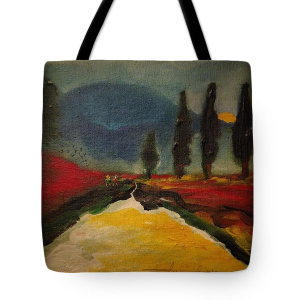 Row Of Cypress Tote Bag