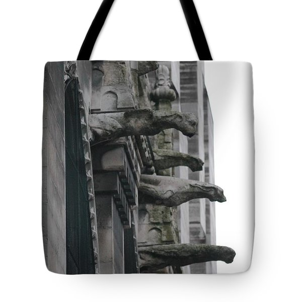 Row Of Gargoyles Tote Bag