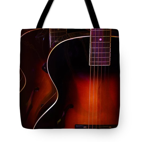 Row Of Guitars Tote Bag