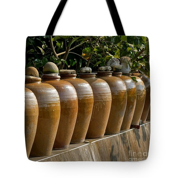 Row Of Pickling Jars Tote Bag