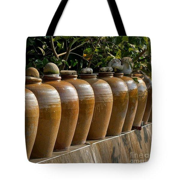 Row Of Pickling Jars Tote Bag