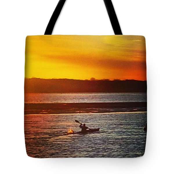 Row Row Row Your Boat Tote Bag by Lauren Fitzpatrick