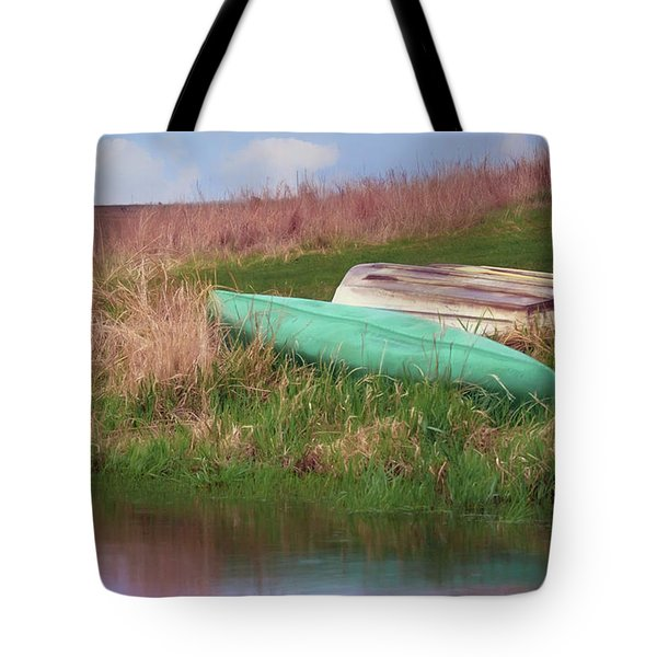 Tote Bag featuring the photograph Rowboat - Canoe by Nikolyn McDonald