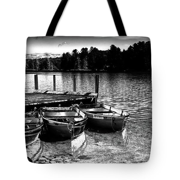 Tote Bag featuring the photograph Rowboats At The Dock 2 by David Patterson