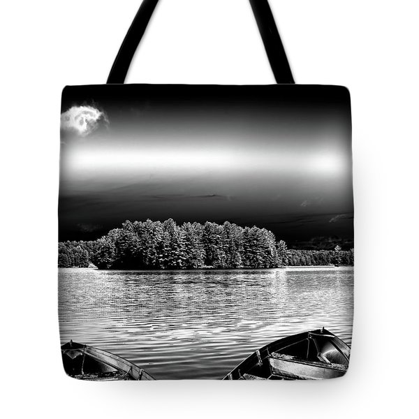 Tote Bag featuring the photograph Rowboats At The Dock 3 by David Patterson
