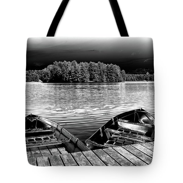 Tote Bag featuring the photograph Rowboats At The Dock 4 by David Patterson