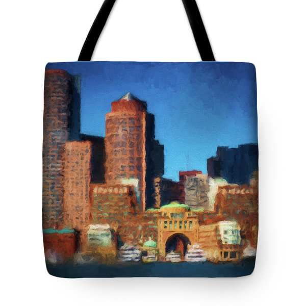Rowes Wharf Boston Tote Bag