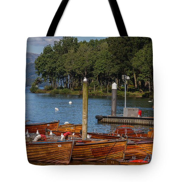 Rowing Boats On Edge Of Bowness-on-windermere Tote Bag