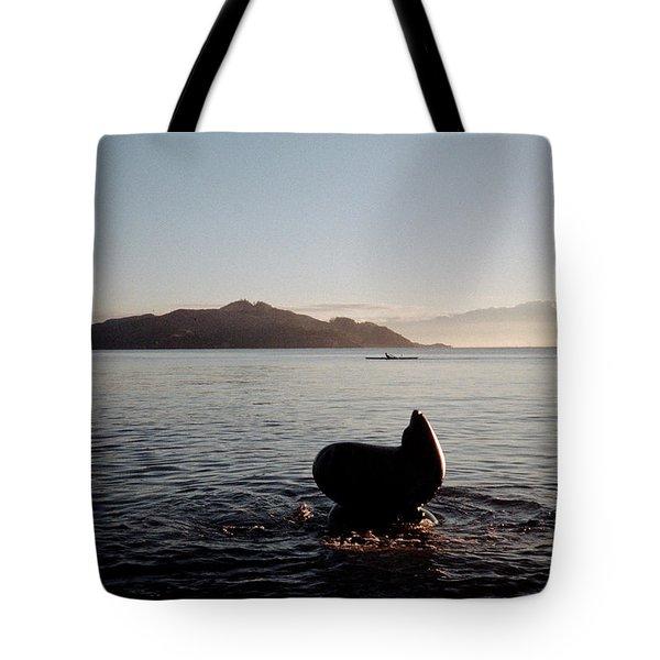 Rowing Off Sausalito, Ca Tote Bag