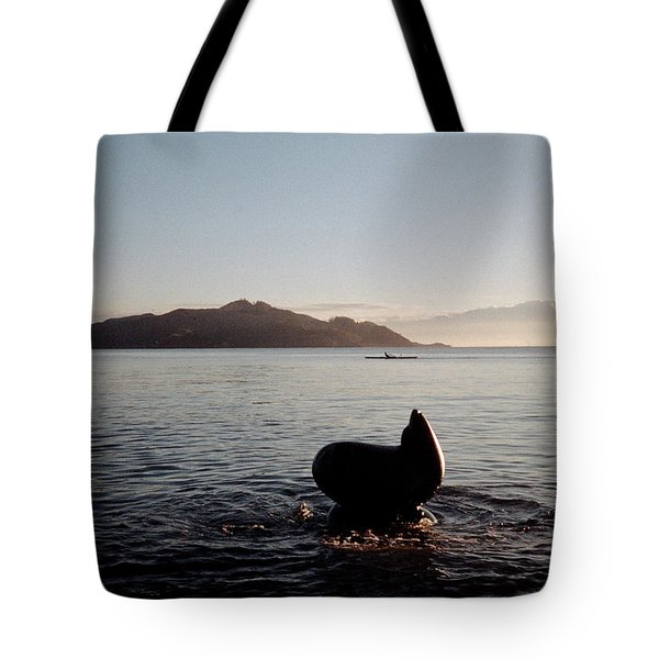 Rowing Off Sausalito, Ca Tote Bag