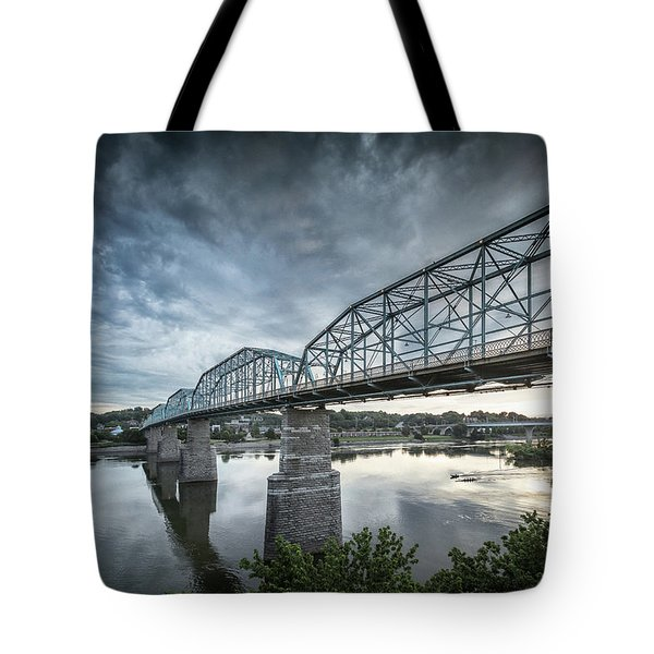 Rowing Under Walnut Street Tote Bag