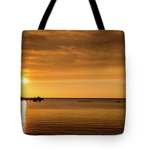 Tote Bag featuring the photograph Rowingteam by Onyonet  Photo Studios