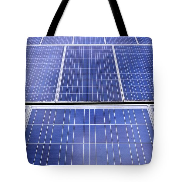 Tote Bag featuring the photograph Rows Of Solar Panels by Yali Shi