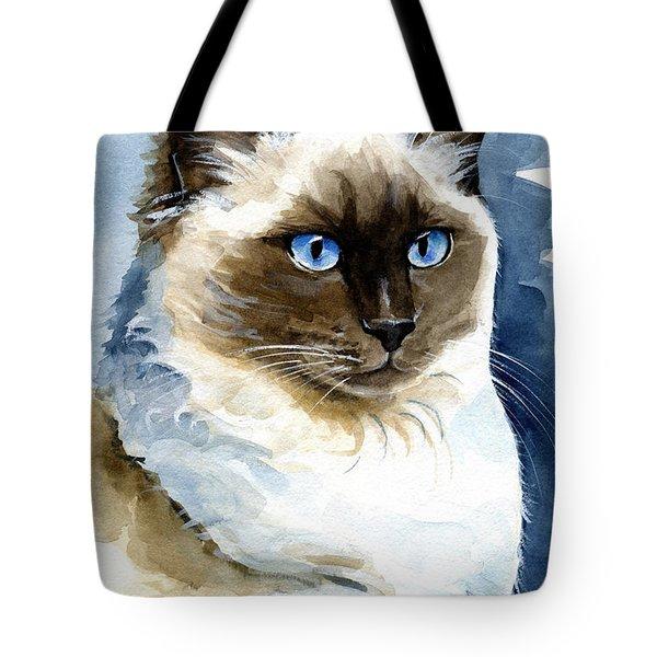 Roxy - Ragdoll Cat Portrait Tote Bag