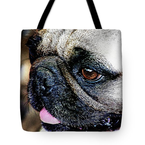 Roxy The Pug Tote Bag