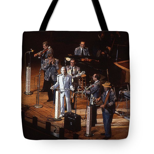 Roy Acuff At The Grand Ole Opry Tote Bag