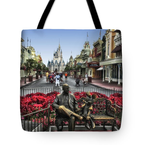 Roy And Minnie Mouse Walt Disney World Mp Tote Bag by Thomas Woolworth