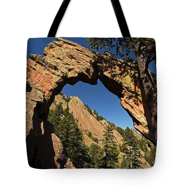 Royal Arch Trail Arch Boulder Colorado Tote Bag