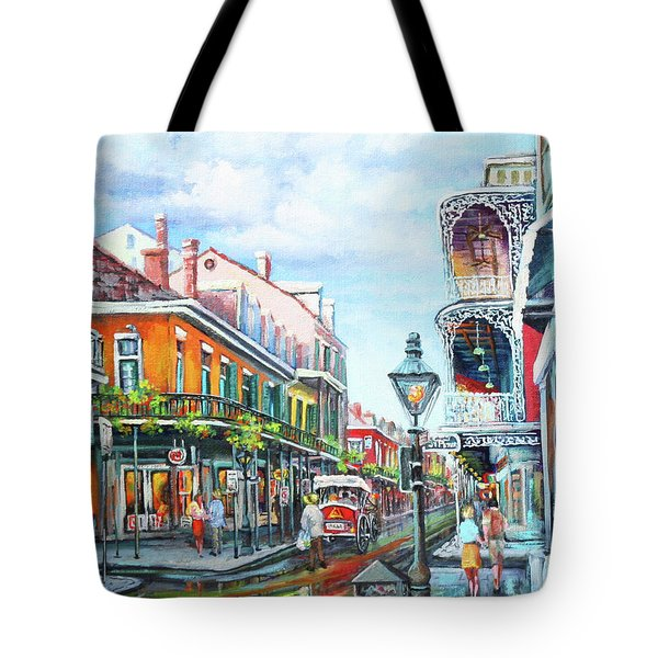 Tote Bag featuring the painting Royal Balconies by Dianne Parks