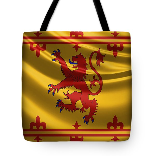 Royal Banner Of The Royal Arms Of Scotland Tote Bag