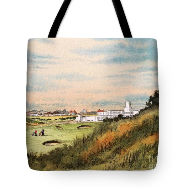 Royal Birkdale Golf Course 18th Hole Tote Bag by Bill Holkham
