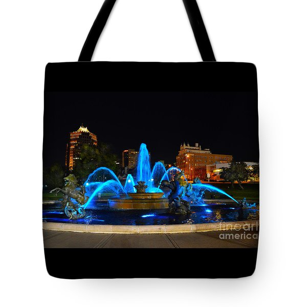 Royal Blue J. C. Nichols Fountain  Tote Bag by Catherine Sherman