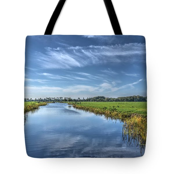 Royal Canal And Grasslands Tote Bag