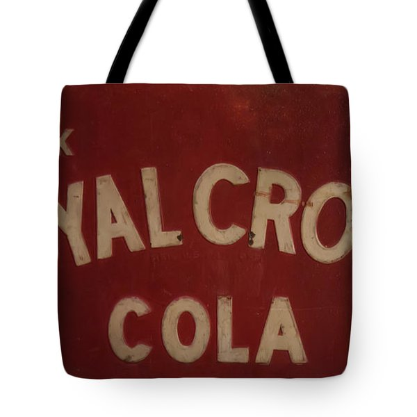 Tote Bag featuring the photograph Royal Crown Cola Sign by Chris Flees