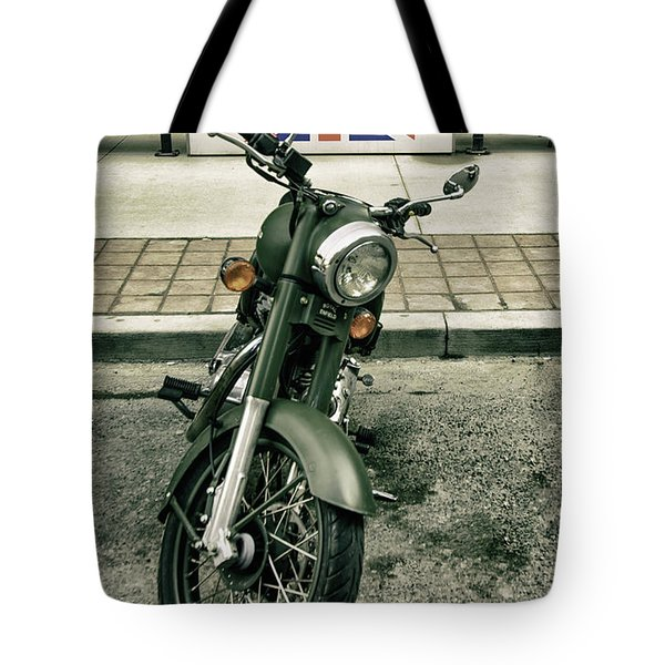 Royal Enfield, Made Like A Gun. Tote Bag