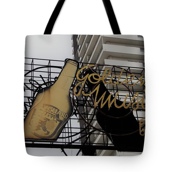 Royal Guard Cerveza And Golden Music Sign Tote Bag