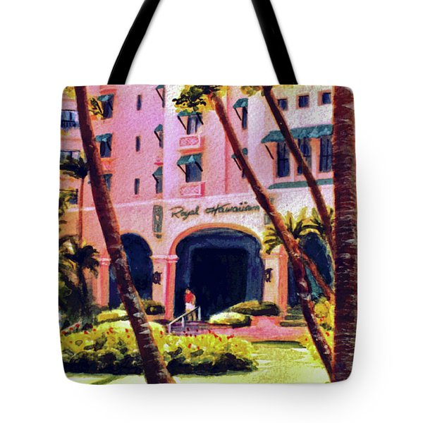 Royal Hawaiian Hotel On Waikiki Beach #131 Tote Bag by Donald k Hall