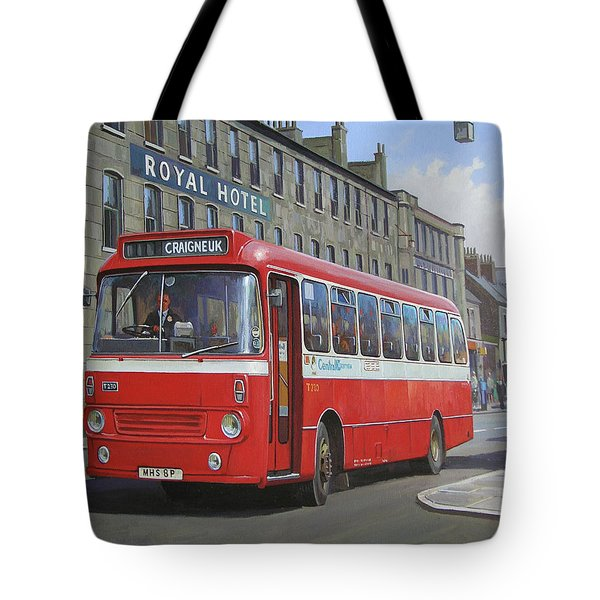 Tote Bag featuring the painting Royal Hotel by Mike Jeffries