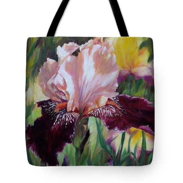 Royal Iris Tote Bag by Donna Munsch