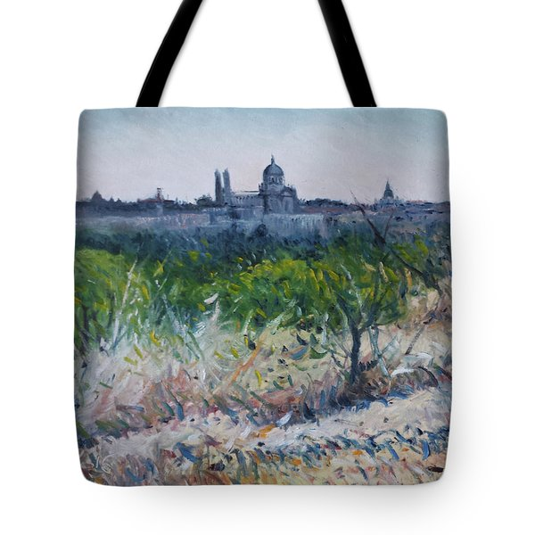 Royal Palace Madrid Spain 2016 Tote Bag by Enver Larney