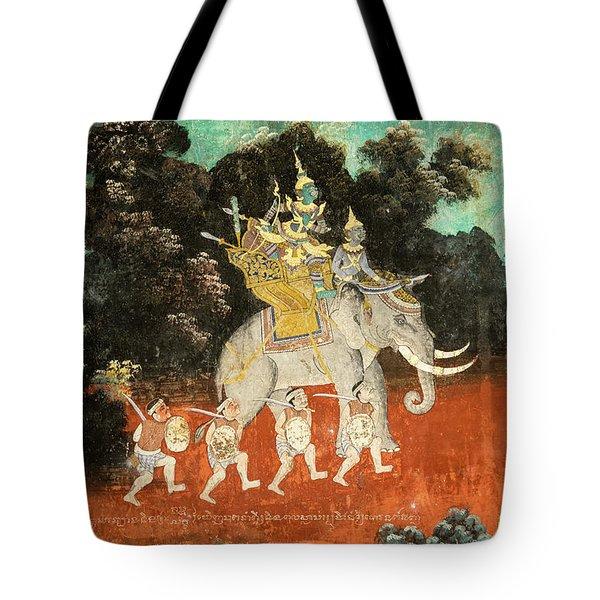 Royal Palace Ramayana 01 Tote Bag