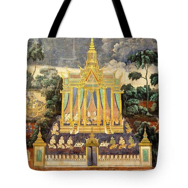 Royal Palace Ramayana 04 Tote Bag