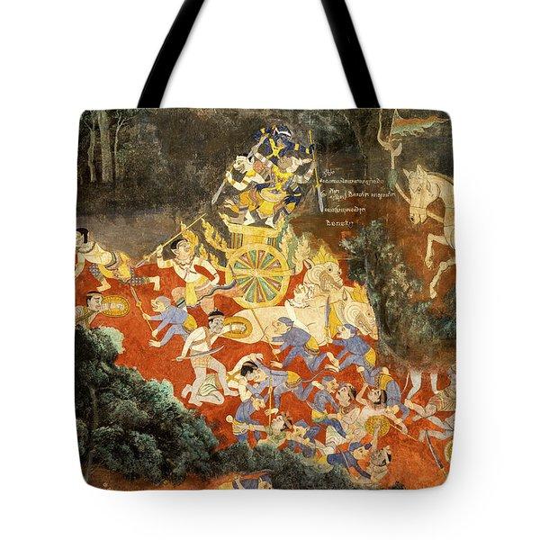 Royal Palace Ramayana 05 Tote Bag