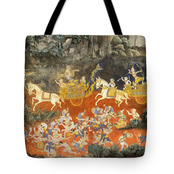 Royal Palace Ramayana 06 Tote Bag