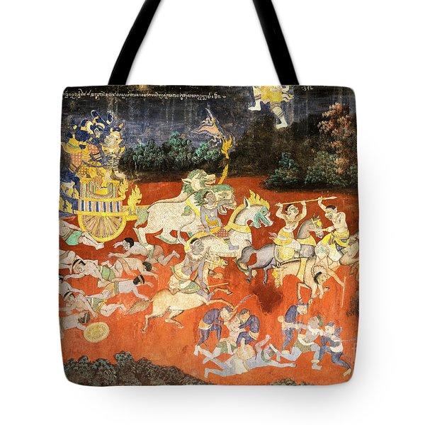 Royal Palace Ramayana 09 Tote Bag